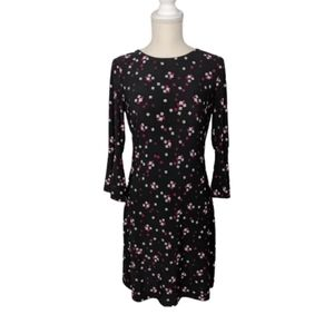 Tommy Hilfiger Printed Bell Sleeve A-Line Dress